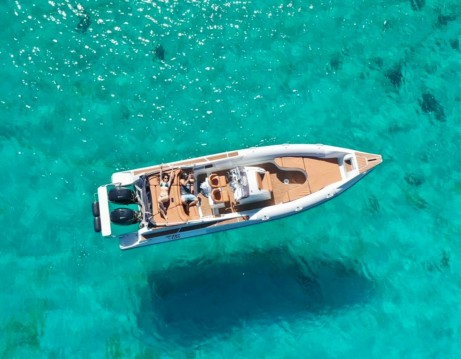 Rental RIB Skipper with a permit