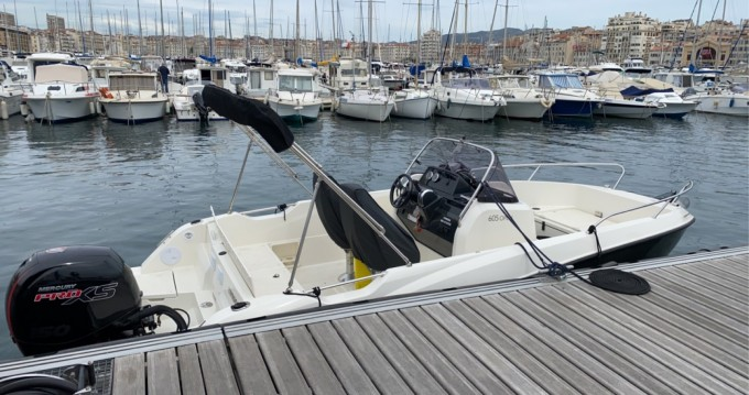 Rent a Quicksilver Activ 605 Open Pack Sport Old Port of Marseille