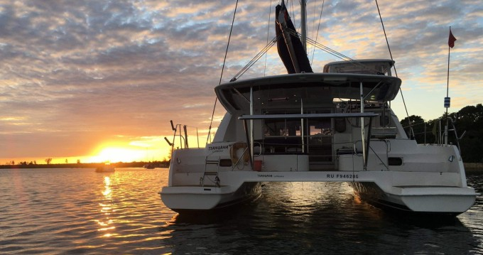 Boat rental Madagascar cheap Leopard 44