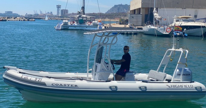 Hire RIB with or without skipper Highfield Barcelona