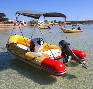 Rental RIB in Formentera - Astec tender 410