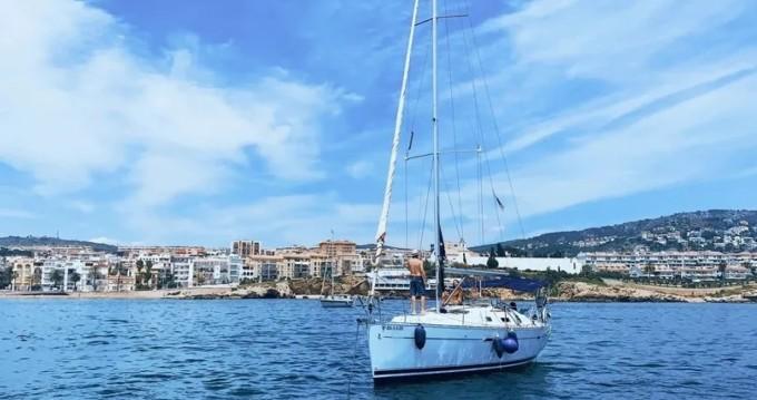Boat rental Port de Sitges Aiguadolç cheap Oceanis 343 Clipper