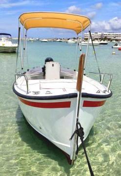 Boat rental Formentera cheap Gozzo 5 terre