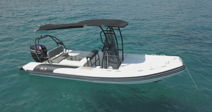 Hire RIB with or without skipper Avon Cannes