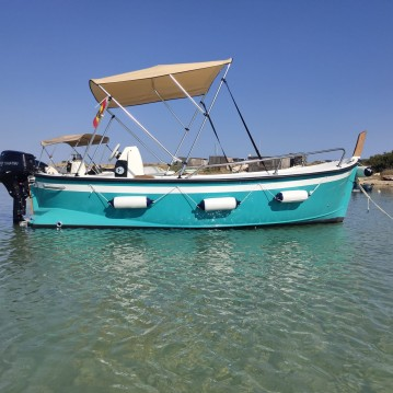 Hire Motorboat with or without skipper PR mare Formentera