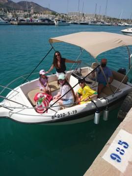 Hire Motorboat with or without skipper Mareti Puerto Marina Benalmadena