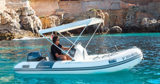 Rental RIB Protender with a permit