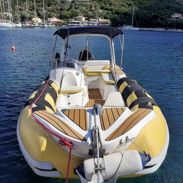 Rental Motorboat Rib with a permit