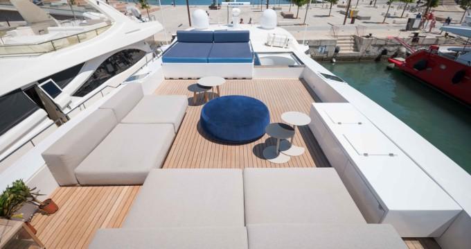 Rent a Tecnomar 120 Ibiza Town