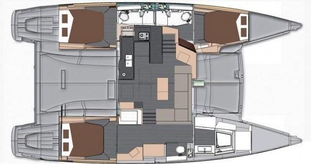 Fountaine Pajot Helia 44 between personal and professional St. Petersburg