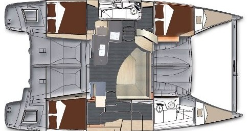 Rental Catamaran in St. Petersburg - Fountaine Pajot Lipari 41