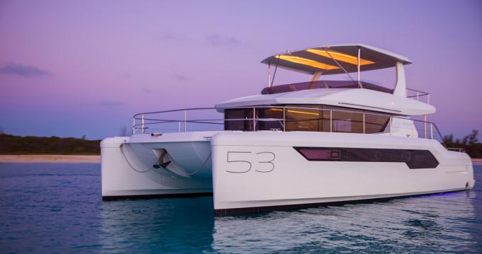 Boat rental Mahé cheap Leopard 53 Power cat