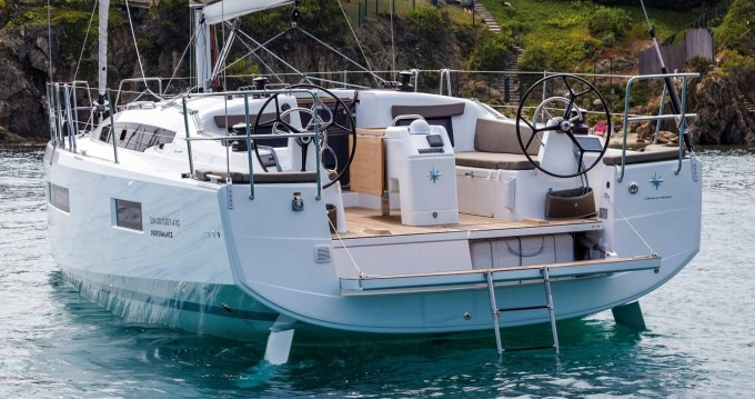 Boat rental Paros Island cheap Sun Odyssey 410