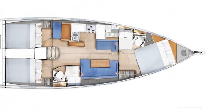 Boat rental Jeanneau Sun Odyssey 410 in Volos on Samboat