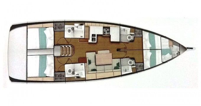 Boat rental Rhodes cheap Sun Odyssey 490