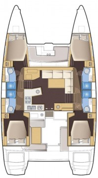 Rental Catamaran in Lávrio - Lagoon Lagoon 450