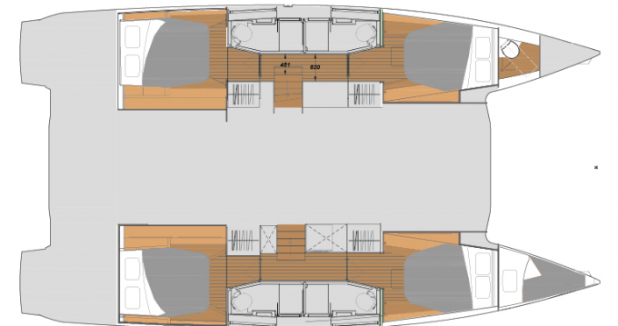 Rent a Fountaine Pajot Fountaine Pajot New 45 - 4 + 2 cab. Athens