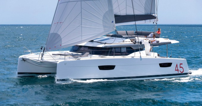 Boat rental Athens cheap Fountaine Pajot New 45 - 4 + 2 cab.