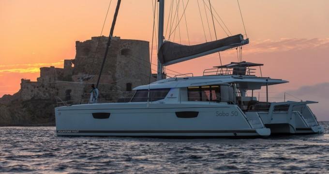 Rental Catamaran in Seget Donji - Fountaine Pajot Saba 50