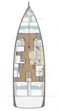 Boat rental Biograd na Moru cheap Sun Odyssey 490