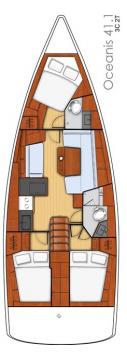 Boat rental Lefkada (Island) cheap Oceanis 41.1
