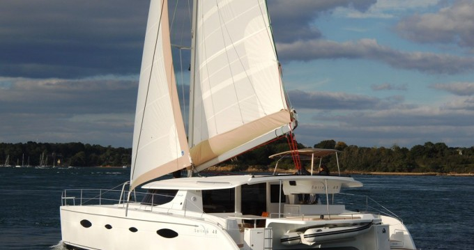 Fountaine Pajot Salina 48 between personal and professional Alimos