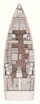 Rental yacht Lávrio - Dufour Dufour 530 on SamBoat