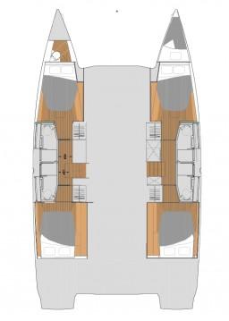 Rental Catamaran in Trogir - Fountaine Pajot Elba 45