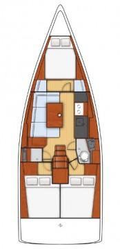 Rental Sailboat in Lefkada (Island) - Bénéteau Oceanis 38