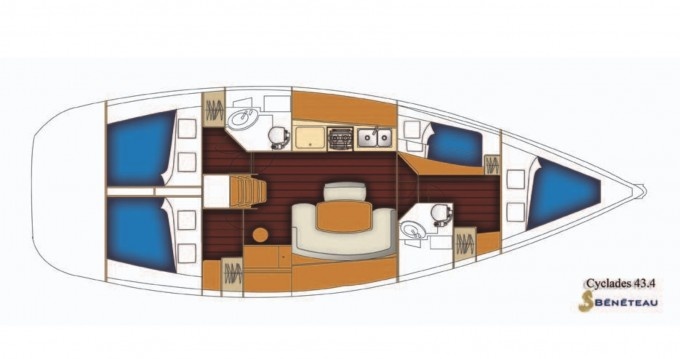 Bénéteau Cyclades 43.4 between personal and professional Marmaris