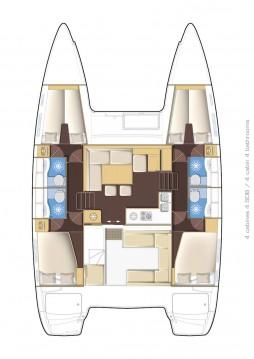 Rental yacht Split - Lagoon Lagoon 400 S2 on SamBoat