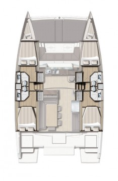 Hire Catamaran with or without skipper Catana Komolac