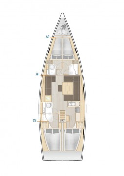 Hire Sailboat with or without skipper Hanse Komolac