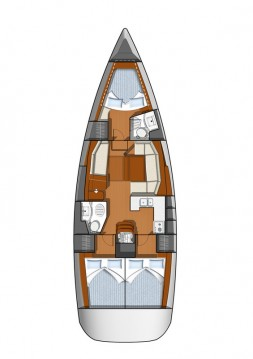 Jeanneau Sun Odyssey 42 DS between personal and professional Lefkada (Island)