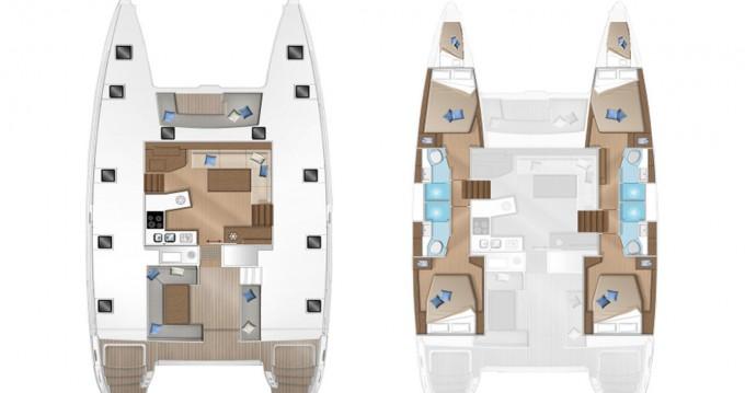 Boat rental Mykonos (Island) cheap Lagoon 450 F
