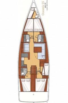 Boat rental Alimos cheap Oceanis 55