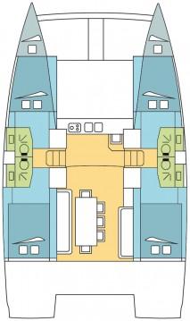 Rental Catamaran in Propriano - Catana Bali 4.0 - 4 + 2 cab.