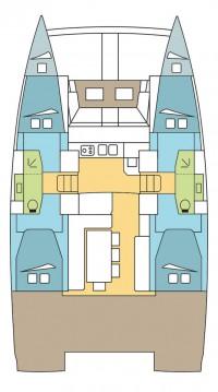 Rental Catamaran in Olbia - Catana Bali 4.1 - 4 + 2 cab.