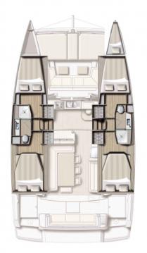 Rental Catamaran in Annapolis - Catana Bali 4.2 - 4 + 1 cab.