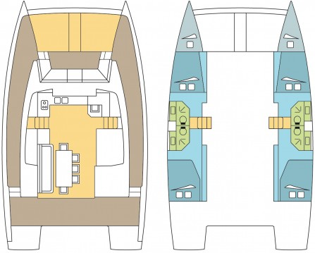 Rental Catamaran in Scrub Island - Catana Bali 4.3 - 4 + 2 cab.