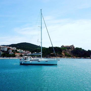 Boat rental Thassos Island cheap Oceanis 45