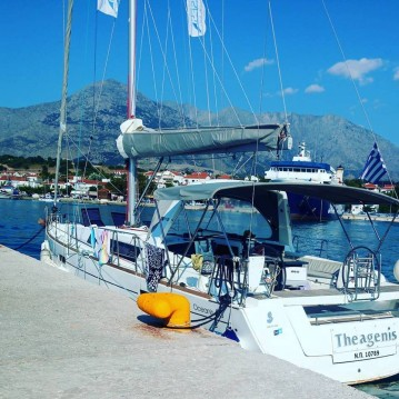 Bénéteau Oceanis 45 between personal and professional Thassos Island