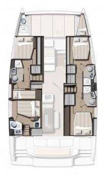 Rental yacht Rhodes - Catana Bali 4.6 - 5 + 1 cab. on SamBoat