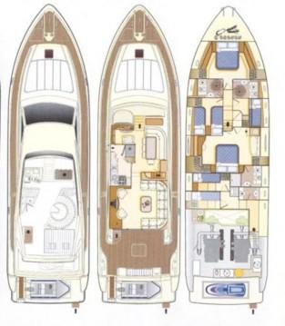 Rental Yacht in Rhodes - Ferretti Ferretti Yachts 68 - 4 + 2 cab.