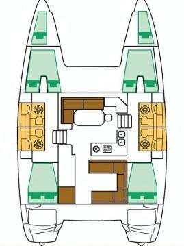 Rental yacht Lávrio - Lagoon Lagoon 400 S2 on SamBoat