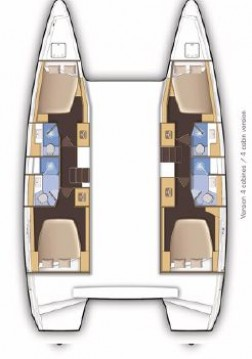 Rental Catamaran in Gouvia - Lagoon Lagoon 46