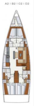 Boat rental Marmaris cheap Hanse 575 - 4 + 1 cab.