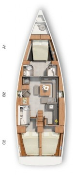 Boat rental Ören cheap Hanse 455