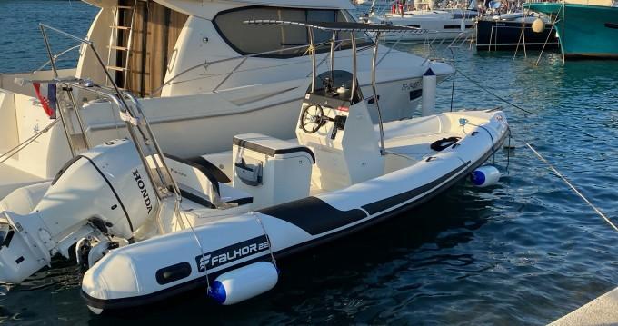 Boat rental Trogir cheap RIB Falkor 22
