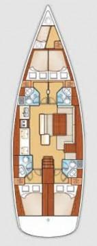 Rental Sailboat in Lávrio - Bénéteau Oceanis 50 - 4 + 1 cab.